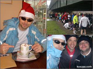 Collage mit Bilder von der Kuhbar (Kakao trinken) und dem Nikolauslauf in Herdecke.