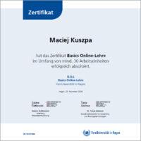 Zertifikat Basics Online Lehre